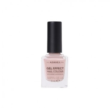 KORRES 32 COCOS SAND GEL EFFECT NAIL COLOUR WITH SWEET ALMOND OIL 11ML