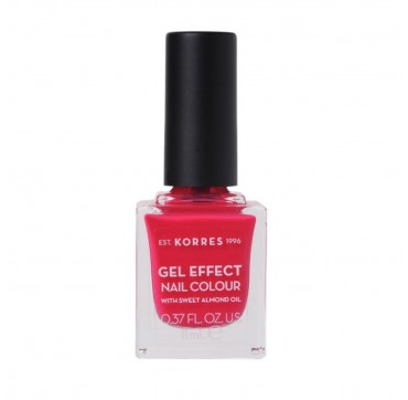 Korres 22 Juicy Fuchsia Gel Effect Nail Colour With Sweet Almond Oil 11ml