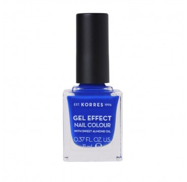 KORRES 86 OCEAN BLUE GEL EFFECT NAIL COLOUR WITH SWEET ALMOND OIL 11ML