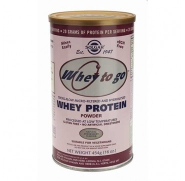 SOLGAR WHEY TO GO PROTEIN STRAWBERRY POWDER 454gr