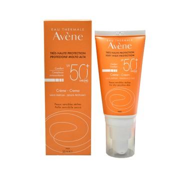 Avene Cream Spf50+ Αντηλιακή Κρέμα Για Πρόσωπο Και Λαιμό Χωρίς Άρωμα 50ml