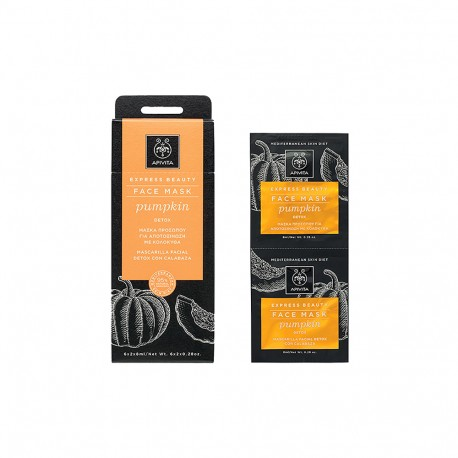 APIVITA FACE MASK PUMPKIN DETOX 2x8ml