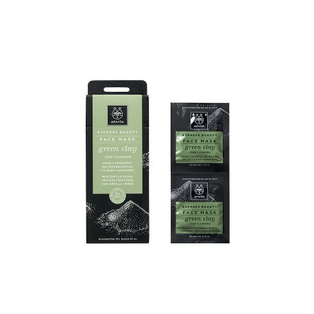 APIVITA FACE MASK GREEN CLAY DEEP CLEANSING 2x8ml
