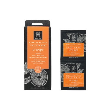 APIVITA FACE MASK ORANGE RADIANCE 2x8ml