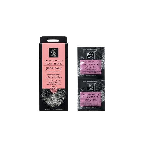 Apivita Express Beauty Face Mask Pink Clay 2χ8ml