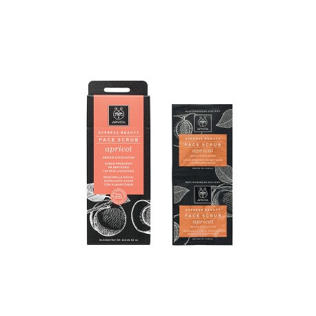 Apivita Express Beauty Face Scrub Apricot 2χ8ml