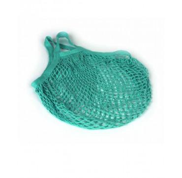 Casa Organica Τσάντα Δίχτυ Από Βιολογικό Βαμβάκι Κοντή Λαβή Blue-green 1 Tem.