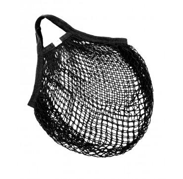 Casa Organica Τσάντα Δίχτυ Από Βιολογικό Βαμβάκι Κοντή Λαβή Black 1 Tem.