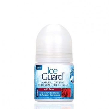OPTIMA ICE GUARD NATURAL CRYSTAL ROLLERBALL DEODORANT WITH ROSE 50ml