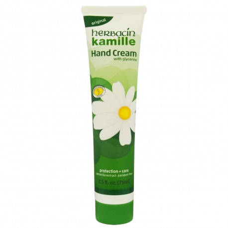 HERBACIN KAMILLE HANDCREAM WITH GLYCERINE ΚΡΕΜΑ ΧΕΡΙΩΝ (TUBE) 75ML