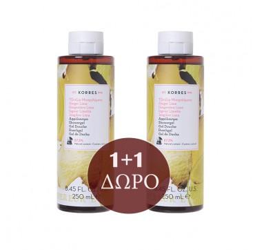 KORRES ΑΦΡΟΛΟΥΤΡΟ GINGER-LIME (1+1) 2x250ml