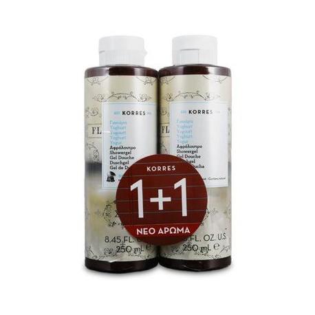 Korres 1+1 Δώρο - Αφρόλουτρο με Γιαούρτι - άρωμα Δρόσιας και Φρεσκάδας - 2x250ml