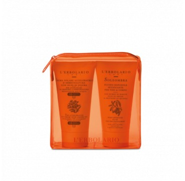 L'ERBOLARIO ORANGE SUN KIT TAN ACCELERATOR SPF15 75ml + SOLEOMBRA SILKY AFTER-SUN FLUID 75ml