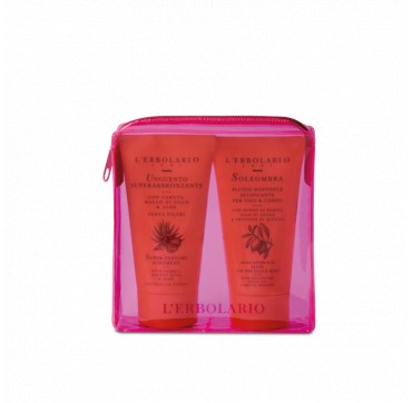 L'ERBOLARIO PINK SUN KIT SUPER TANNING OINTMENT 75ml + SOLEOMBRA SILKY AFTER-SUN FLUID 75ml