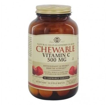 Solgar Vitamin C 500mg Chewable Raspberry 90tabs