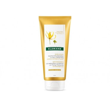 KLORANE SUN RADIANCE RICH RESTORATIVE CONDITIONER WITH YLANG-YLANG WAX 200ml